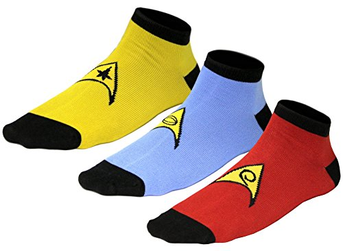 Star Trek Uniform Socks - Command - Science - Engineering - Set Of 3 Pairs