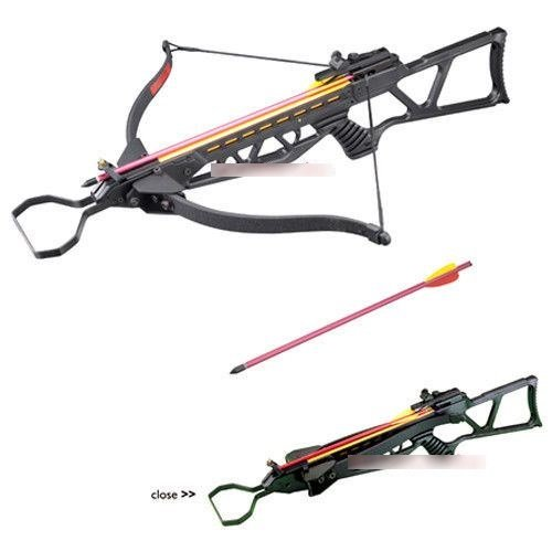 Hunting Crossbows 130lbs Foldable Metal Black Hunting Crossbow 2 Arrows Crossbow Bolts
