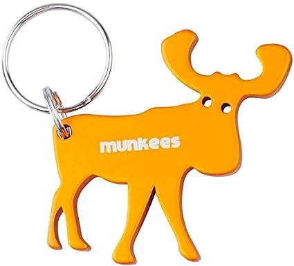 munkees Alce Llavero con abrebotellas, Aluminio, Naranja ...