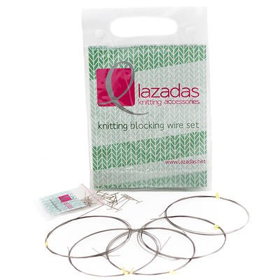 Lazadas Knitting Accessories Blocking Wires for Knitting and Crochet, Long Set by Lazadas Knitting Accessories (Image #1)
