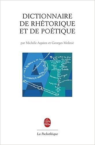 Livre gratuits en ligne Dictionnaire de rhétorique et de poétique epub, pdf