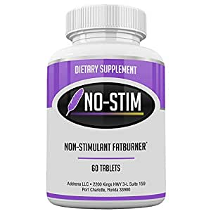 Non Stimulant Fat Burner Diet Pills That Work- No Stimulant Appetite Suppressant & Best Caffeine Free Weight Loss Supplement for Women & Men- Natural Thermogenic Fat Loss Pill - No-Stim 60 Tablets