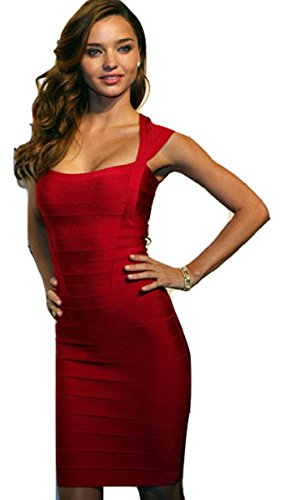 New Damen rot Cap Ärmeln figurbetont Bandage Kleid Club Wear Essex ...