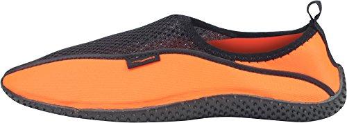 Enimay Männer und Frauen Slip auf Kordelzug Strand Sommer Urlaub Wassersport Aqua Schuh Wake - Orange   schwarz