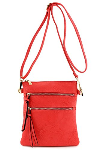Functional Multi Pocket Crossbody Bag Coral