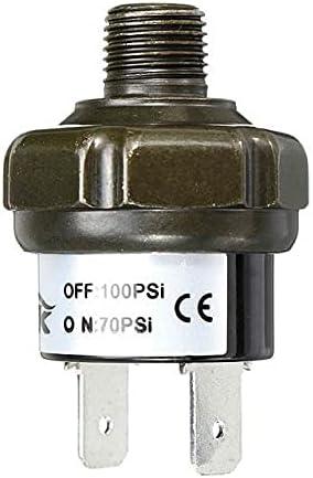 Datauya Válvulas Cambiar el compresor de Aire Control de presión Interruptor válvula de Interruptor Pesado 70 90 100 120 150 180 PSI Cambiar Partes (Color : 70 100Psi)