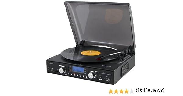 Sunstech PXR2BK - Giradiscos digital, USB, SD, MMC, FM: Sunstech ...