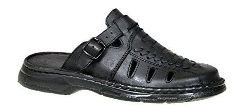 Closed Toe Mens Genuine Buffalo Leather Comfortable Mule Orthopedic Form Sandals Model-806