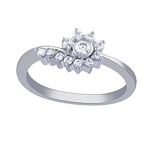 Giantti Women's 14KT Diamond Ring - IGL Certified (0.262 Ct, I1 Clarity, GH-Colour)
