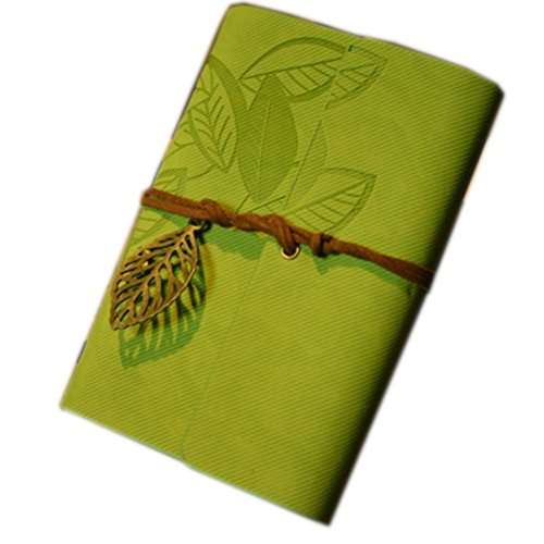 Bessky® Vintage Leaf Leather Cover Loose Leaf Blank Notebook