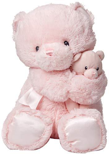 Teddy Bear Girl (GUND Momma and Baby Teddy Bear Stuffed Animal Plush Rattle, Pink,)