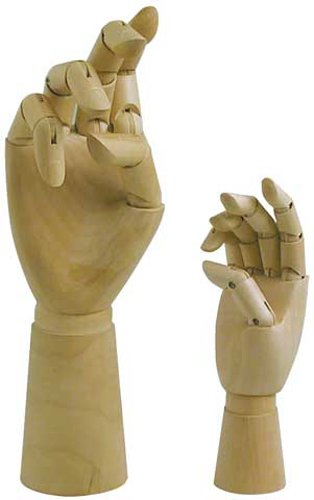 Artist Manikin 12In Male Left Hand by Art Alternatives