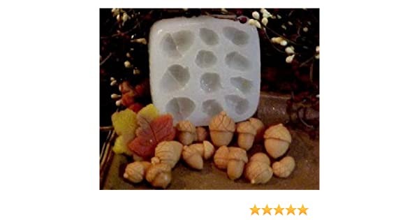 Mini Acorn Embeds 11 Cavity Silicone Mold 738 Food-Soap-Candle-Resin-Flexible