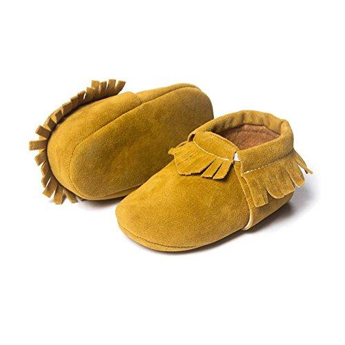 ESHOO bebé borla zapatos suela suave Candy Color Prewalker zapatos de cuna 0–18M C Talla:6-12 meses K
