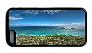 Hipster iPhone 5C protective cover lanikai beach kailua hawaii Black for Apple iPhone 5C