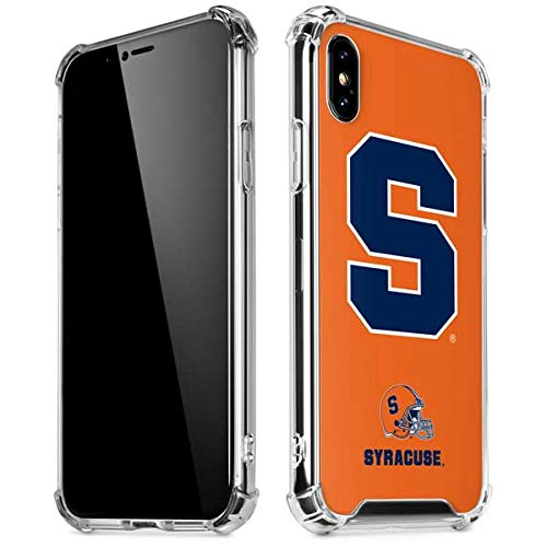 Skinit Syracuse Orange iPhone X/XS Clear Case - Officially Licensed Syracuse University Phone Case - Slim, Lightweight, Transparent iPhone X/XS Cover