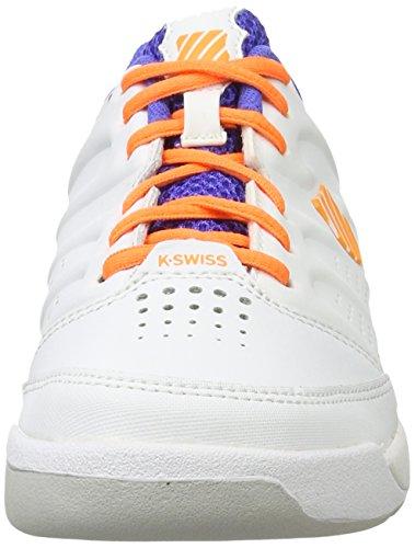 K-Swiss Kinder Tennisschuhe weiß/blau/orange