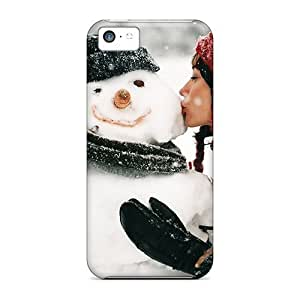 linJUN FENGNew Diy Design Kissing A Snowman For iphone 4/4s Cases Comfortable For Lovers And Friends For Christmas Gifts