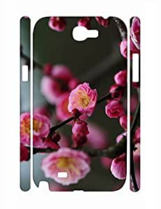 Cool Fashion Flower Print Durable Samsung Galaxy Note 2 N7100 Snap On Case