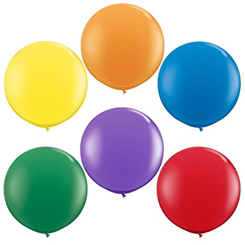 NYKKOLA 36 Inch Giant Jumbo Latex Balloon (Premium Helium Quality),6 Pack Big Balloons for Photo Shoot/Birthday/Wedding Party/Festival/Event/Carnival, Mix Color