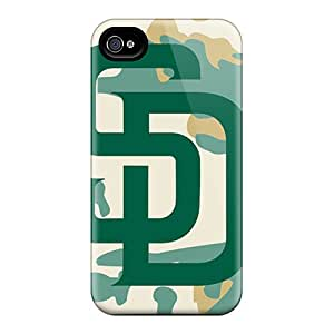 Best Hard Cell-phone Cases For Iphone 4/4s With Provide Private Custom Beautiful San Diego Padres Pictures TimeaJoyce