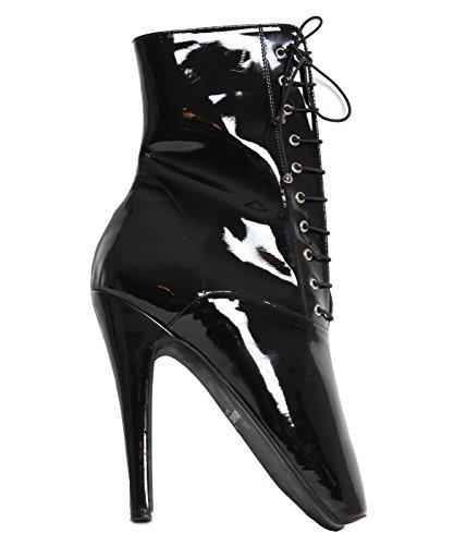 Lackstiefel Boots Short Black Black Black Ballettoes 66Tqrnwz