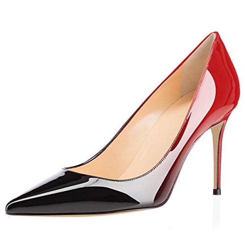 Eldof Vrouwen Comfort Office Pumps Hoge Hak Jurk Pumps Voor Bruiloft Patry / 8cm Zwart Rood