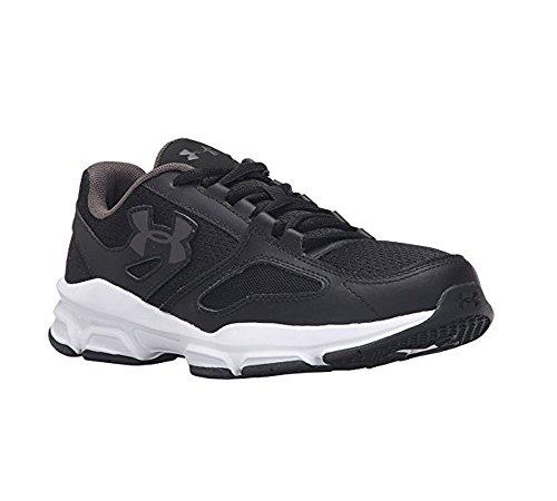Under Armour Women 's UA zona Sneaker Black/white/metallic Pewter