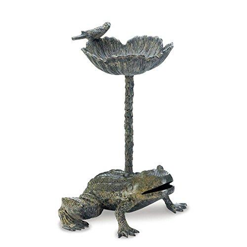 Iron Leaf Birdbath Stand - 7