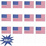Cheap Amscan Star Spangled Fourth of July Party Small American Flag Favours, Saver Pack of 6 (Each Includes 48 Pieces), Made from Plastic, , 6 1/4″ x 4″
