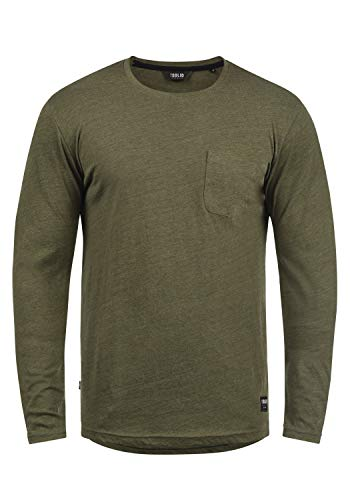 Bobo solid Manches Melange 8797 Encolure Rond Homme À Ivy T shirt Longues Green S6wd1