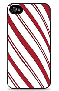 """Candy Cane Stripes iPhone 6 (4.7 """") Hard Case- Black - 521 by ruishername"""