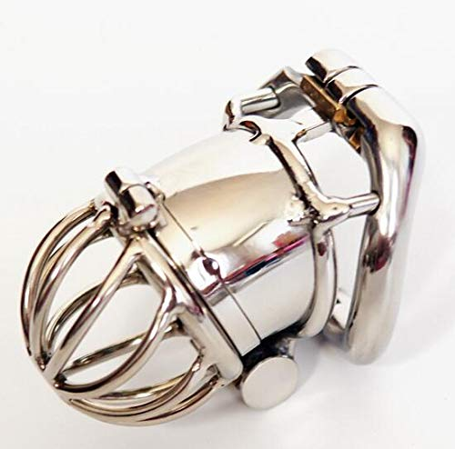 Ergonomic Stainless Steel Stealth Lock Male Chastity Device,Cock Cage,Fetish Virginity Penis Lock,Cock Ring,Chastity Belt,S076 Standard Version Size 1 by Personality ring