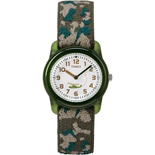 Timex Boys T78141 Time Machines Green Camo Elastic Fabric Strap Watch