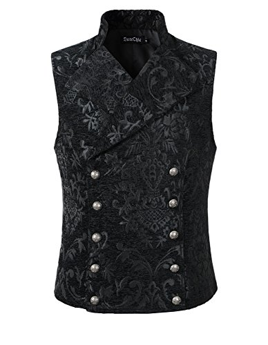 DarcChic Mens Tapestry Double-breasted Vest Waistcoat Gothic Aristocrat Steampunk Victorian 3