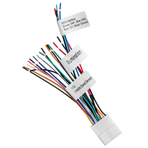 Radio Wiring Harness with Steering Wheel Switch Wires Compatible with 2007-up Subaru or Nissan Subaru/Nissan Headunit (Car Harness Wire Armada Bose)