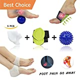 Plantar Fasciitis Inserts, Arch Support, Massage Ball, Best for Heel Pain Treatment, Cracked