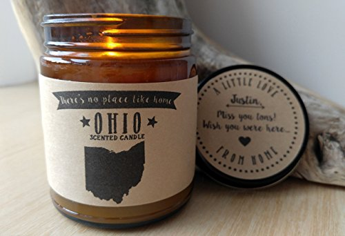 Ohio Scented Candle Missing Home Homesick Gift Moving Gift New Home Gift No Place Like Home State Candle Miss You Valentines Day Gift