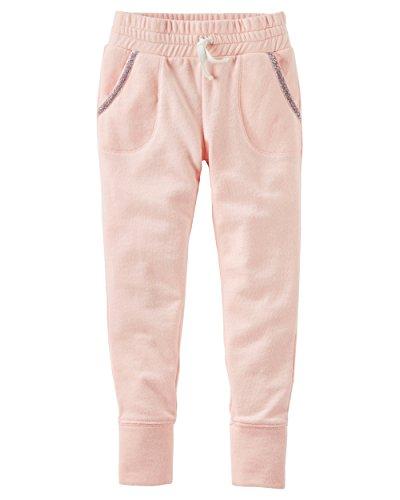 OshKosh B'Gosh Girls' Kids Fleece Jogger Pants, Light Pink, 10