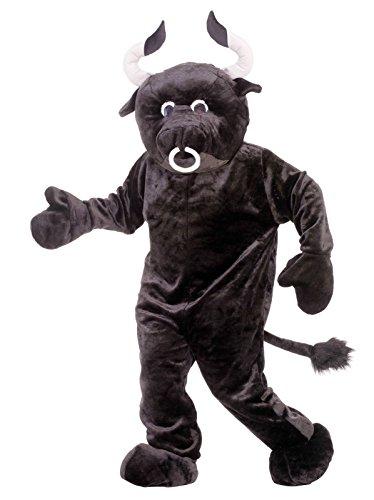 Forum Deluxe Plush Bull Costume, Black, One (Matador And Bull Costume)