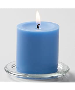 "Richland 3"" X 3"" Hand Poured Light Blue Pillar Candle"