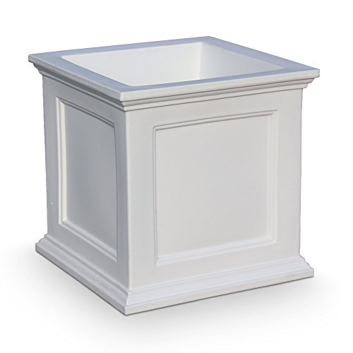 Mayne 5825W Fairfield Patio Planter, White, 20-Inch (Planters Outdoor Wood)