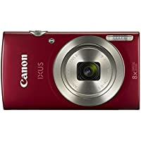 Canon IXUS 185 Digitalkamera (20 MP, 8x optischer Zoom, 6,8cm (2,7 Zoll) LCD Display, HD Movies) rot