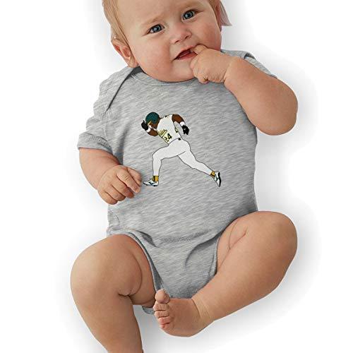 Henderson Autographs - Unisex Baby Onesie Bodysuit Green Oakland Henderson 24 Short-Sleeve Bodysuit for Boys and Girls
