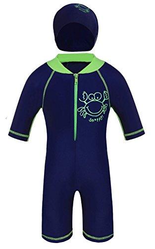 Jojobaby Kids Boys Wear Surfing Suits Sun Protection Beach Swimsuit Swimwear (120(Age:6-7Y))