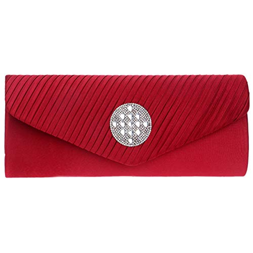 For Party Wallet Purse Evening Chain Handbags Clutches Bags Womens Elegant Red RqxwpH1