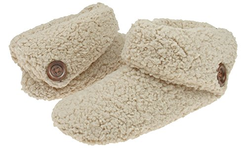 Capelli New York Ladies Faux Berber Indoor Slipper Bootie Cashmere Camel Small Cashmere Booties