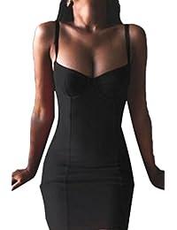Women's Elegant Simple Sleeveless Strapless Sweetheart Split Bodycon Mini Club Dress