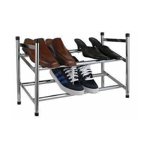 Design SCHUHREGAL mit 2 Etagen - Ausziehbar für bis zu 12 Paar Schuhe - Stapelbar und Robust