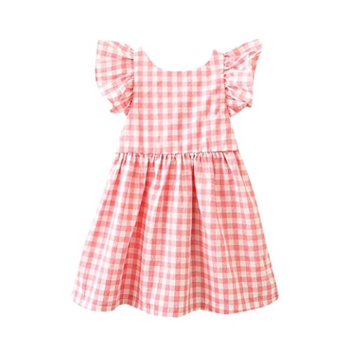 - Willsa Baby Girls Dress, Kids Infant Toddler Floral Rabbit Sleeveless Ruffle Clothes Princess Dress (18M, Pink)